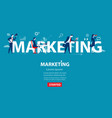 business person marketing concept business vector image vector image