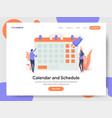 calendar and schedule concept vector image