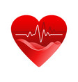 cardiology logo - heart care isolated icon vector image vector image