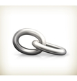 Chain link icon vector image vector image