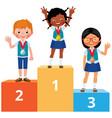 children students different nationality in school vector image vector image