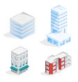 city buildings isometric 3d vector image