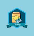 cleaning emblem design vector image