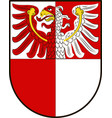 coat of arms of barnim in brandenburg germany vector image vector image
