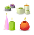Collection of different aroma candles for relax vector image vector image