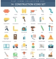 Construction color flat icon set Elegant vector image vector image