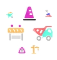 Construction works polygonal icons vector image vector image
