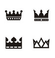 crown logo set silhouette vector image vector image