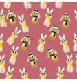 cute rabbit with scarf vector image vector image