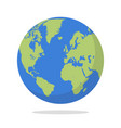 earth globe on white background vector image vector image