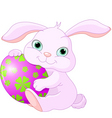 Easter rabbit holds egg vector image