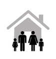 family icon over white background vector image vector image