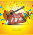 festa junina with acoustic guitar vector image vector image
