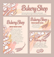 food template banners with bread vector image vector image
