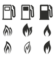 Fuel icon set vector image vector image