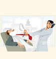 funny situation in barbershop vector image vector image