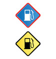 gas pump road sign vector image vector image