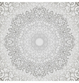 Grey Circle Lace Ornament vector image vector image
