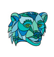 grizzly bear head mosaic vector image vector image