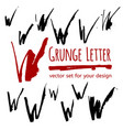 grunge letter set for your design vector image vector image