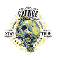 Grunge Skull Print vector image vector image