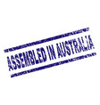 grunge textured assembled in australia stamp seal vector image vector image