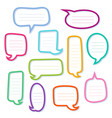 hand drawn outline speech bubbles dialogs boxes vector image