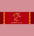 happy ganesh chaturthi mahotsav hindu festival vector image vector image
