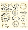 Happy Mothers DayInsignias logotypes badges vector image vector image