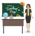 happy teacher day vector image