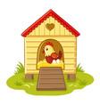 hen sits in henhouse vector image