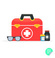 in a modern flat style health vector image