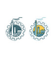 industry industrial enterprise factory logo or vector image