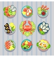 Infographic Elements Food Business Seafood vector image