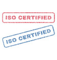 iso certified textile stamps vector image vector image