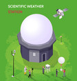 isometric meteorological composition vector image vector image
