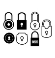 Lock Simple Set vector image vector image