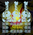 Love wine and tasting card vector image vector image
