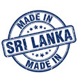 made in sri lanka blue grunge round stamp vector image vector image