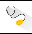 Medical Technology concept with stethoscope vector image
