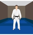 Men in sport wear judo and jiu-jitsu vector image vector image