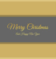 merry christmas creative design with typography vector image vector image