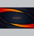 modern dark navy background and orange lines vector image vector image