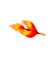 mythical phoenix fire bird vector image vector image