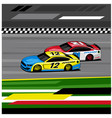 nascar car racing vector image