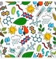 Nature ecosystem symbols seamless background