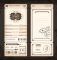 Old Vintage style Boarding Pass Wedding card vector image vector image