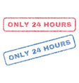 only 24 hours textile stamps vector image vector image