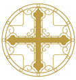 Ornamented Golden Christian Holy cross vector image vector image