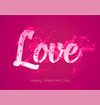 romantic purple valentines day greeting card vector image vector image